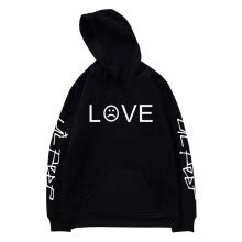 -LOVE Letter Print 2018 Long Sleeve Fashion Autumn Winter Fashion Hoodies Male Coat Men Hoodies Sweatshirts Black/White/Gray/Pink on JD
