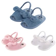 -Baby Girl Sandal Shoes Walking Learning Soft-Soled Non-Slip Plaid Bow Cloth Candy on JD