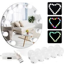 -10PCS Vanity Mirror Lights USB Cable Atmosphere Color Bulb Lights Hollywood Style Makeup LED Mirror Lights Kit on JD