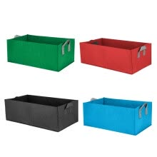-〖Follure〗Fabric Raised Garden Bed Rectangle Breathable Planting Container Growth Bag on JD