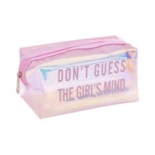 -Transparent Girl School Pencil Case Cosmetic Makeup Storage Bag on JD