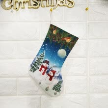 -[Firstdream Store] Christmas Decorations New Year Gifts Santa Snowman Socks Christmas Socks Gift on JD