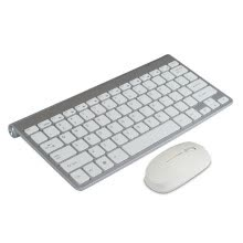 -High Quality Ultra thin White 2.4G Cordless Wireless Keyboard and Optical Mouse on JD