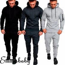 -Men´s Tracksuit Jogger Fitness Workout Hoodies Bottoms Pants Trousers Sport Suit Slim on JD
