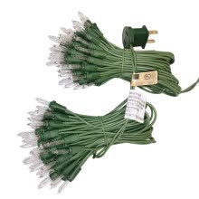 -Set Of 100LED Small Christmas Tree Lights 72.2 Feet 8.5' Spacing Light String- Green Wire With US Plug on JD
