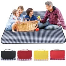 -New brand Freedomgo Portable And Extra Large Picnic & Outdoor Blanket Water-Resistant Handy Mat Tote on JD