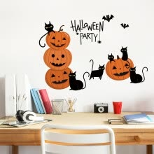table-lamps-Happy Halloween Background Wall Sticker Window Home Decoration Decal Decor on JD