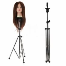 one-pack-hair-Mnycxen Adjustable Wig Head Stand Mannequin Tripod Hairdressing Training Holder on JD