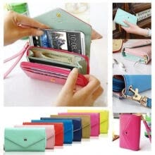 -2018 Fashion Cell Phone iphone Galaxy S MP4 MP5 Wrist Wallet Pouch Case Purse Wristlet Handbag on JD