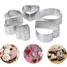 -6Pcs Heart-shaped Cake Biscuit Cookie Cutter Mold DIY Baking Pastry Tool on JD