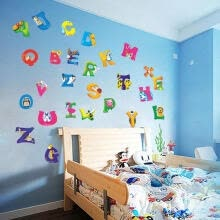 -The Hotsale and New A-Z Alphabet Animals Wall Sticker Mural PVC Decals Kids Baby Nursery Room Decor on JD
