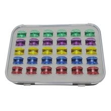 -Colored Bobbin Plastic Case Set 30 Sets Of Mixed Color Bobbin Set on JD