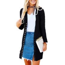 knitwear-Women Long Sleeve Slim Casual Office Ladies Knitted Plus Splice Cardigan Sweater Outwear Coat Jacket on JD