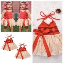 -Fashion Toddler Baby Girl Princess Party Pageant Sleeveless Red Skirt Tutu Floral Dress Age For 0-4 Years on JD