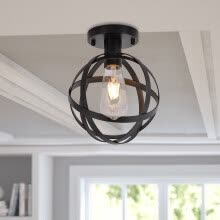 -Metal Cage Ceiling Light Industry Vintage Home Pedant Lighting US Stock on JD