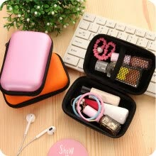 -Mini Zipper Hard Leather Earphone Storage Bag Earphone Pouch Box on JD