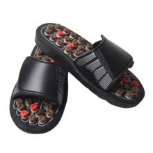 -Unisex Acupoint Massage Slippers Sandal Chinese Acupressure Therapy Medical Rotating Foot Massager Shoes on JD