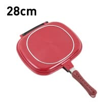 -Foldable 28/32 CM double-sided frying pan non-stick barbecue cooking tool barbecue frying pan non-stick steak frying pan on JD