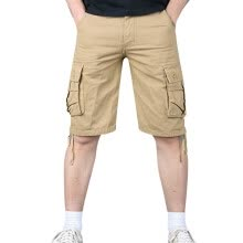 -Men's  Style Cotton Multi-Pocket Overalls Shorts  Pant on JD