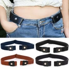 -Buckle Free Elastic Belts Womens Mens Invisible Belt Waist For Jeans Adjustable on JD