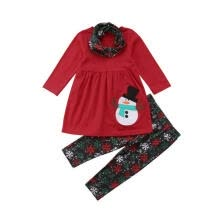 -Baby Girl Christmas Clothes Snowman T-shirt Tops Snowflake Print Leggings Costume Set on JD
