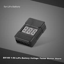 -BX100 1-8S LiPo Battery Voltage Tester Low Voltage Buzzer Alarm with LED Indicator on JD