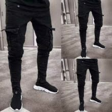 -2019 Men's Slim Fit Urban Straight Leg Trousers Casual Pencil Jogger Cargo Pants on JD