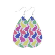 -Mnycxen Trend Personality Leather Pattern Drop Earrings Jewelry Gift on JD
