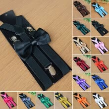 -Mens Matching Sling Bow Combination Fancy Clothing Bow Tie Fashion Accessories on JD
