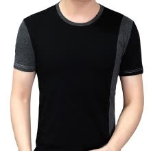 -Personality Splicing Mens Tops Leisure Self Cultivation Short Sleeves T Shirts on JD
