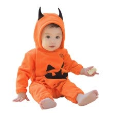 -born Infant Baby Girls Boys Hooded Pumpkin Print Jumpsuit Outfits Halloween on JD