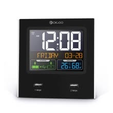 -LED Digital Weather Station Temperature Humidity Alarm Clock Time Calendar Snoo on JD