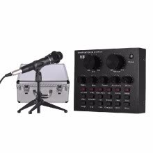 -External Sound Card USB Audio Interface + Wired Condenser Microphone + Microphone Desktop Tripod Stand + Monitor Earphone with Alu on JD