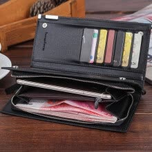 -MIARHB Men Long Bifold Business Leather Wallet Money Card Holder Coin Bag Purse on JD