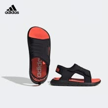 -adidas Adidas SANDAL Boys' Children's Shoes 2020 Summer Boys' Children's Velcro Swimming Sandals EG2233 Blue 13K on JD