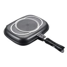 -Double Sided Grill Pan Portable Durable for Grilling Frying Home Kitchen Camping on JD
