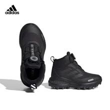 -Adidas Adidas 2020 Boys Children's Running Hiking Sneakers High Top Outdoor Shoes Snow Boots Thickening FV3486 Black/White 35 Size/210mm/2.5 on JD