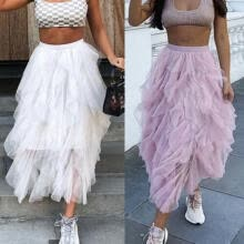 cosplay-UK Women Adult Lady Tutu Tulle Skirt Fancy Skirt Dress Up Party Dancing Dresses on JD