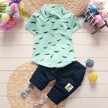 -Summer Baby Boys Clothes Sets Kids Lovely Beard Printed T-Shirt+Pants 2 Pcs Casual Children Set Casual Baby on JD
