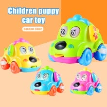 -Willstar Cute Baby Kids Toy Clockwork Puppy Car Toy Cartoon Small Dog Funny Car Educational Wind-Up Toy For Boys Girls on JD