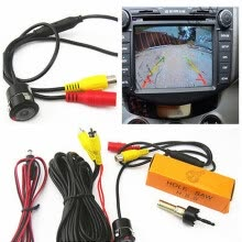 -DC12V 170° CCD Car Reverse Backup Front Rear View Camera Kits 18.5mm Waterproof on JD