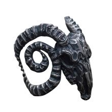 -ANNA Domineering Men's Personality Creative Silver Sheep Head Open Ring on JD