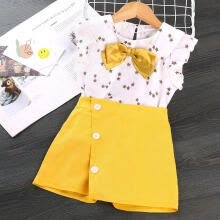 -Baby Girl Fall Outfit Short Sleeve T-Shirt Tops Tutu Skirt Clothes Set on JD