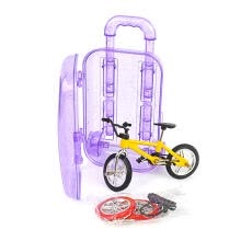 -Simulation Alloy Mini Bicycle Model Toy Set Trolley Case Kids Toy (Yellow) on JD