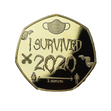 badges-2020 Survivors Commemorative Coin I Survive 2020 Memorial Lucky Survived Collectible Coin Gift on JD