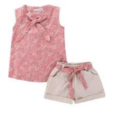 -Kids Clothes Sets Baby Girls Suits Country Style Cotton Floral Patterns Short +Pant Girls Summer Clothing Fashion on JD