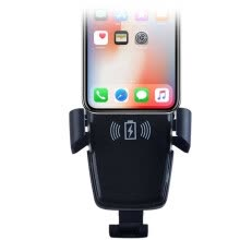 -car wireless charging bracket mobile phone holder air outlet snap-on electric induction bracket   fast charge black on JD