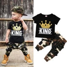 -Baby Boy Short Sleeve T-shirt + Camouflage Pants Summer Outfit Clothes on JD