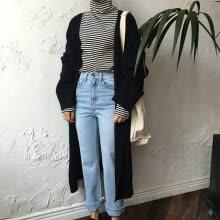 555b5f38708 Women Oversized Long Cardigan Coat Open Front Long Sleeves Slits Side Loose Knitted  Outwear