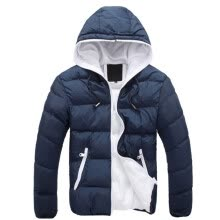 -Winter Warm Jacket Men Hooded Slim Casual Coat Cotton-padded Jacket Parka Overcoat Hoodie Thick Coat on JD